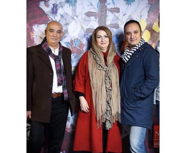 احسان کرمی در کنار پدر و مادرش + عکس