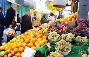 بازار میوه شب عید غیر قابل پیش بینی است