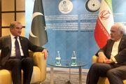 دیدار و رایزنی ظریف با وزیر خارجه پاکستان