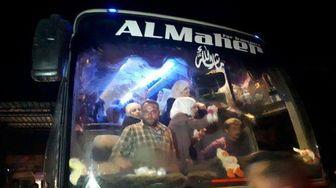 گروگانهای آزاد شده از چنگ جیش الاسلام وارد دمشق شدند