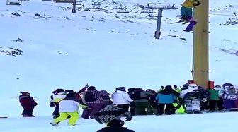 حادثه وحشتناک در پیست دربندسر+فیلم