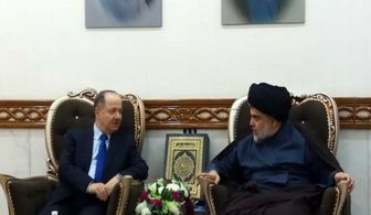 مسعود بارزانی در نجف با صدر دیدار کرد