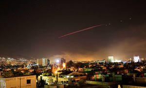 مقابله پدافند هوایی سوریه با موشکهای آمریکا