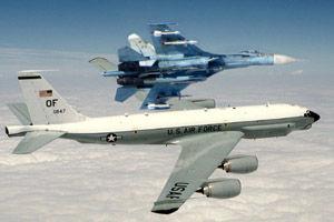 رهگیری هواپیمای جاسوسی آمریکا از سوی جنگنده روس