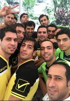 عکس سلفی بازیکنان در تمرین تیم ملی فوتسال