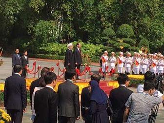 استقبال رسمی رئیس جمهوری ویتنام از روحانی