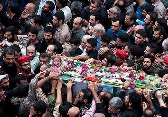آغاز تشییع پیکر مطهر ۱۳۵ شهید گمنام در تهران