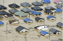 بارش باران 60 ژاپنی را قربانی کرد