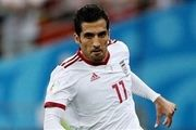 حمله وحید امیری به رقبای تیم ملی فوتبال ایران+فیلم