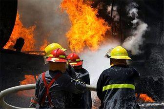 مهار آتش سوزی یک گاراژ در خیابان فدائیان اسلام