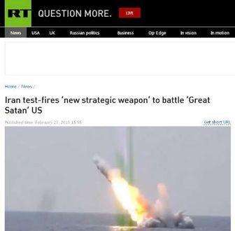 اظهارات رسانه روسی درباره موشک ایرانی