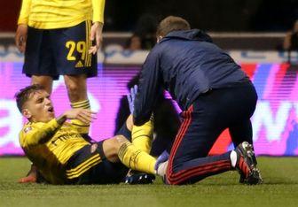 آرسنال شکستگی قوزک پای هافبکش را تائید کرد