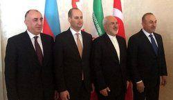 ابراز خرسندی ظریف از حضور در نشست چهارجانبه باکو