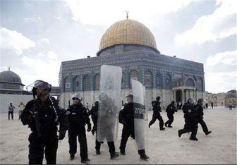 یورش خاخام افراطی صهیونیستها به مسجد الاقصی