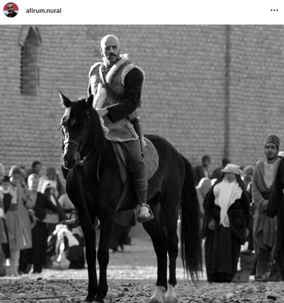 علیرام نورایی سوار بر اسب + عکس