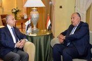 رایزنی وزرای خارجه عراق و مصر درباره تحولات منطقه