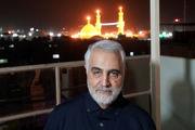 فرزند شهید خوشلفظ در آغوش سرلشکر سلیمانی/ عکس