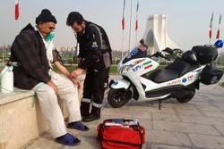 هوای پایتخت در اضطرار، آمبولانسها در میدان