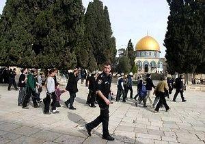 تعرض شهرکنشینان صهیونیست به مسجد الاقصی