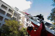 آتش گرفتن انبار پتو در خیابان خرداد