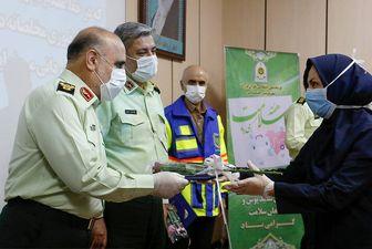 قدردانی رییس پلیس تهران از کادر درمانی/ عکس
