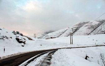 بارش برف در گردنه ی کوهین