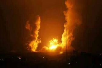 حملات هوایی رژیم صهیونیستی به غزه