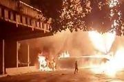 انفجار و آتش سوزی در پایتخت ونزوئلا