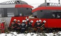 تصادف قطار در اتریش با بیش از ۲۰ زخمی