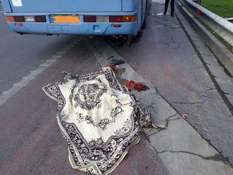 جان باختن عابرپیاده در تصادف صبح امروز