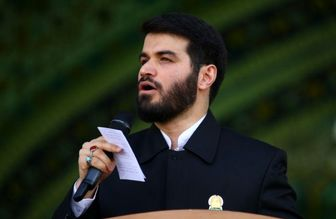 """مداحی حماسی """"مطیعی"""" پیش از مراسم سخنرانی رهبرانقلاب درمشهد"""