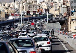 کاهش ۱۴ درصدی ترافیک تهران نسبت به زمان مشابه سال گذشته