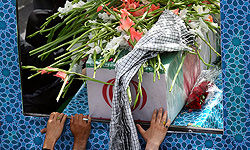 مراسم وداع با ۲ شهید گمنام در دانشگاه علامه