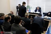 حسین فریدون مقابل میز محاکمه/ عکس