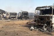 آخرین تصاویر از آتش سوزی در گمرک اسلام قلعه