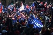 درگیری خشن طرفداران ترامپ با پلیس در واشنگتن+فیلم