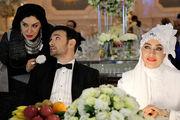 خانم بازیگر لباس عروس به تن با چهره ای درهم/ عکس