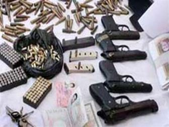 کشف انواع سلاح های جنگی در شهرستان زابل