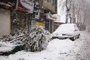 بارش برف سنگین در همدان