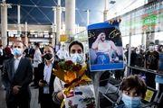 استقبال پرشور مردم از مدال آوران المپیکی کشتی آزاد و کاراته/ گزارش تصویری