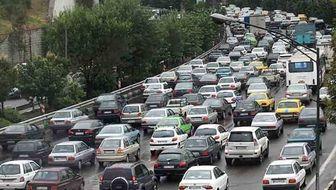 ترافیک سنگین در معابر اصلی تهران