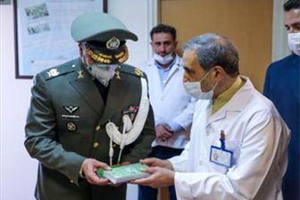 تقدیر فرمانده دژبان ارتش به مدافعان سلامت
