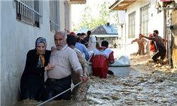 سیلزدگان مازندران اسکان اضطراری یافتند