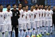 ۵ بازیکن ابتدایی فوتسال ایران در برابر آرژانتین
