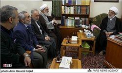 دیدار رئیس دفتر مقام معظم رهبری با تولیت عتبه حسینی