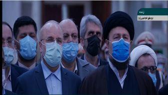 تجدید میثاق اعضای هیئت رئیسه مجلس با آرمانهای امام(ره)