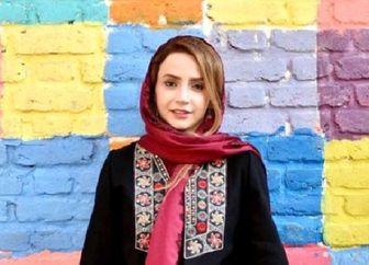 «شبنم قلی خانی» با لباس زیبای کردی/ عکس