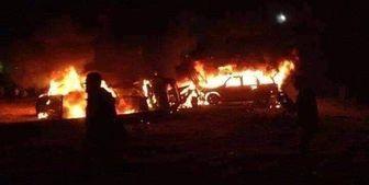 انفجار پمپ بنزین در خیابان پیروزی تهران/ فیلم