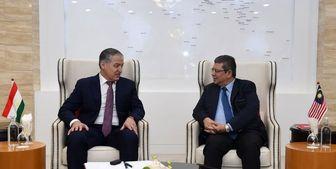 دیدار وزرای امور خارجه تاجیکستان و مالزی