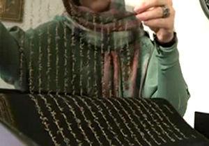 نگارش اولین قرآن ابریشمی در جهان/فیلم